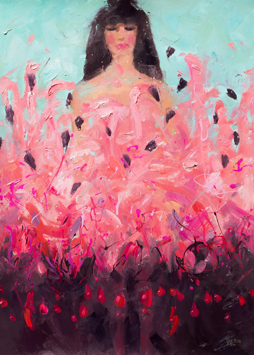 Oil Painting,pink Flamingo, Woman With Flamingos, Girl, Abstract, Flamingos, Love, Fighting, Flamingo,pink, Purple, Red, Art, Bird, Birds, Oil On Canvas, Artwork, Painting, Original, Realistic, Painting For Sale, Art For Sale, Sold, Fine Art, Buy A Painting, Wall Art, Gift, Christmas, Artist, Equine Art, Equine Artist, Contemporary Painting, Painting Gallery, Painting, Custom Art, Custom Paintings, Nature, Animals, Animal, Usa, America, American Art, Blue, Turquoise, Kate Tova Artist, Christmas, Gift, Anniversary, New Year, Birthday Present, Unique, Exclusive, Expensive, Luxurious, Living Room, Guestroom, Kate Tova, Wedding Gift, Valentines Day Gift, Hand Painted, Art For Dining Room, Guest Room, Living Room, Bedroom, Print