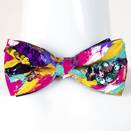 Custom Hand-Painted Bow Tie