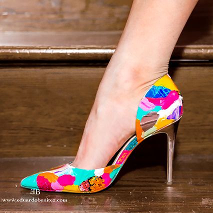 Custom Handpainted Shoes heels flats colorful vivid personalized painted designer fashion abstract exclusive present gift by Kate Tova