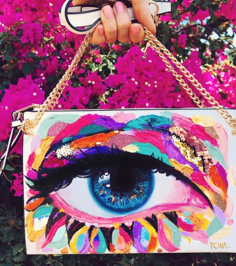 TWIGGY. Painted Crossbody Bag