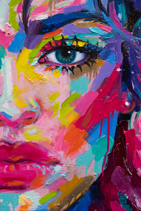 art, painting, buy artwork, colorful, vibrant, woman, portrait, expressive, usa, america, new orleans