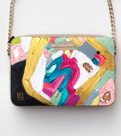 ABSTRACT II. Painted Michael Kors Crossbody Bag