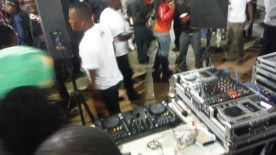 The DJ spinnin' beats