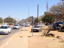 Mochudi's main road