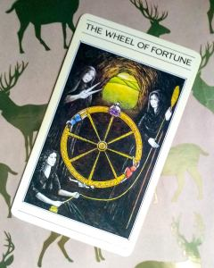 The Wheel of Fortune. The Winter Solstice is often depicted with a wheel.