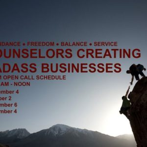 consultation, speaking, continuing education counselors