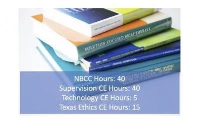 40 Hour LPC LMFT Supervisor Course Business Edition