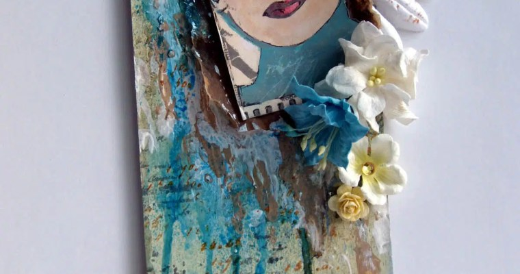 Mysterious Lady: Mixed Media Tag