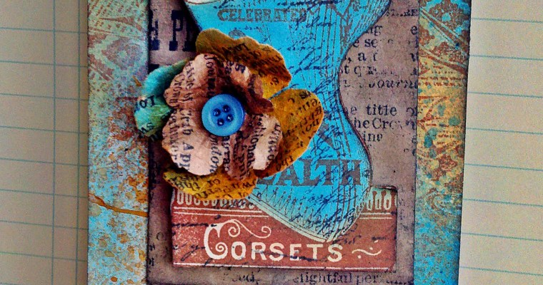 Corsets: The Price of Beauty; Mixed Media Tag