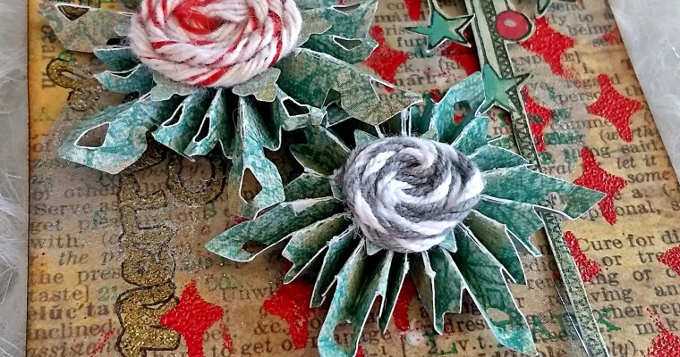 Who Wants A Peppermint Snowflake?  A Mixed Media Christmas Tag