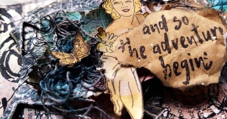 The Adventures of Not Sleeping In: Mixed Media Mail Art