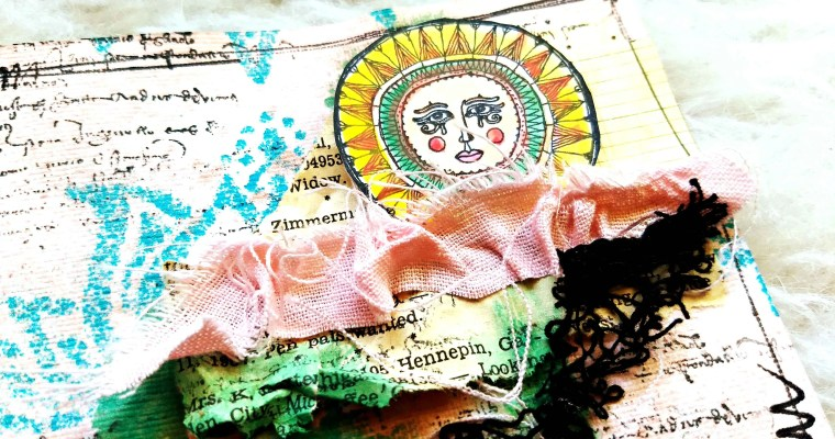 Your Smile is Like the Sun : Mixed Media Art Journal Layout