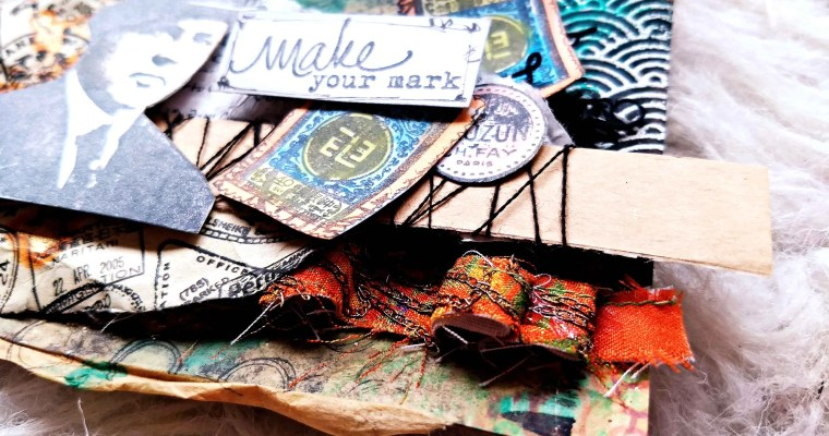 Make Your Mark In Life : Mixed Media Mail Art