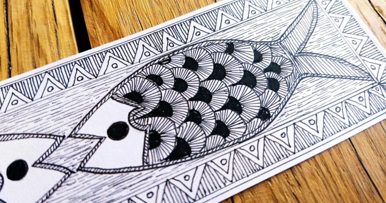 Line Drawing In the Madhubani Style: A Couch Adventure