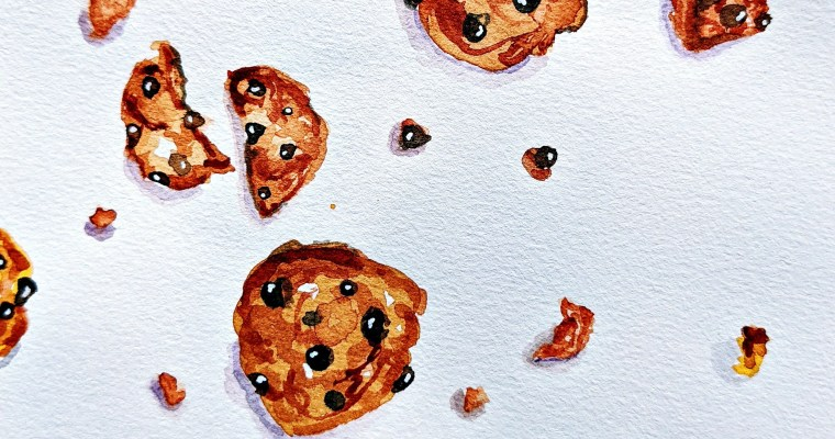 Who Doesn't Love a Food Explosion? : Watercolor Food Illustration