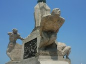 The statues in the plaza de armas