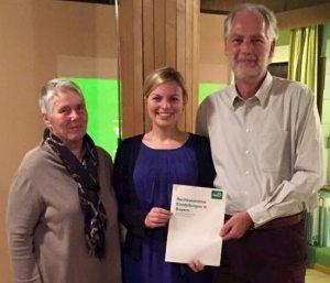 Marese Hoffman und Achim Liebl von den Grünen Dachau mit Katharina Schulze