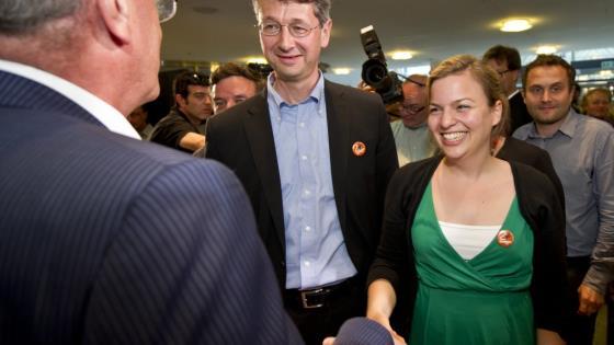 Im KVR München: Die Startbahngegner sind glücklich, denn #2hatgewonnen