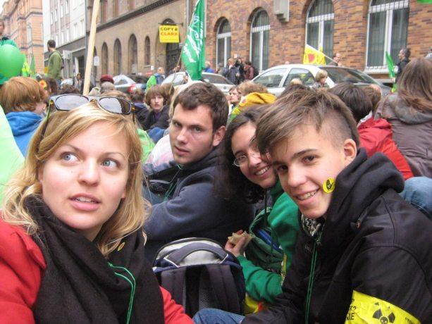 Die Grüne Jugend München in Berlin: Große Anti-Atomkraft-Demonstration