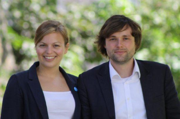 Tolles Team: Katharina Schulze und Sebastian Weisenburger führten gemeinsam die Münchner Grünen