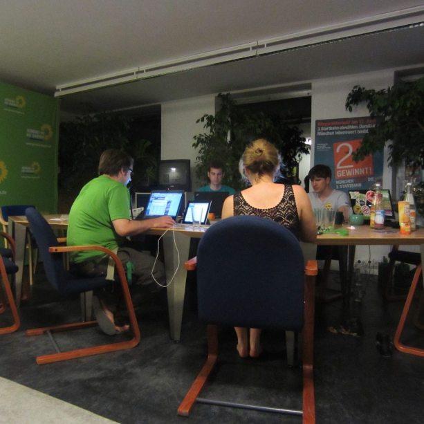 Arbeit im Team bei den Münchner Grünen: Vorbereitung der Kampagne