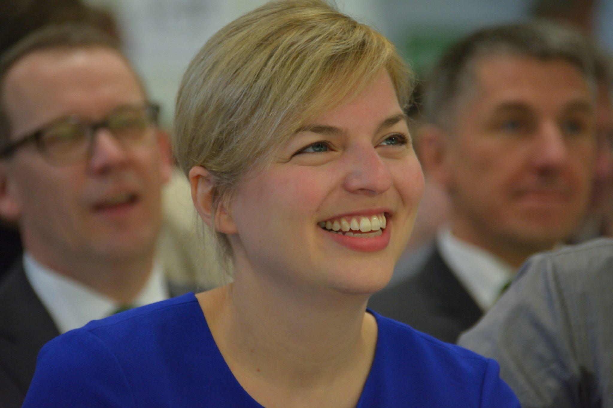 Katharina Schulze im Publikum.