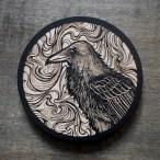 Psychadelic Raven - Wood Coaster