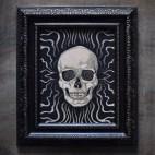"Hypno-skull - 8x10"" Wood Engraving"