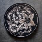 Snake Botanical - Wood Coaster