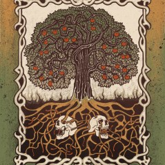 Apple Tree - Ink Drawing with Digital Colour