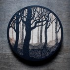 Foggy Forest - Wood Coaster