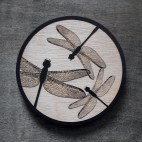Dragonflies - Wood Coaster