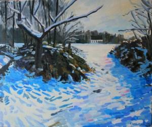 snow on wimbledon common