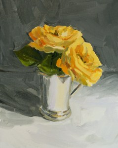 Yellow Roses painting