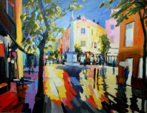 Seven dials Covent Garden oil painting