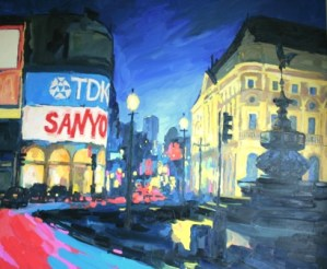 Picadilly Circus painting oil on canvas