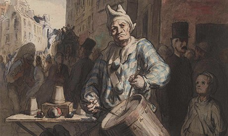 Daumier Clown Playing a Drum