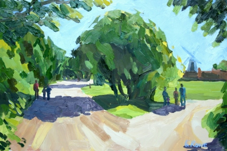 Wimbledon Common, 40x30cm framed, sold