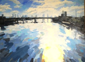 Painting of London oil on canvas