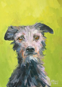 Lily the Lurcher, 35x25cm unframed, £375