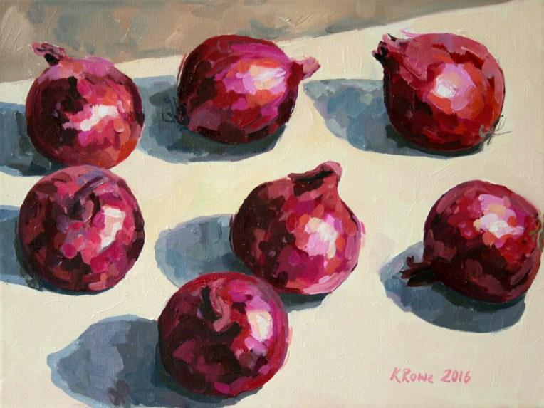 Red onions, 40x30cm, £325