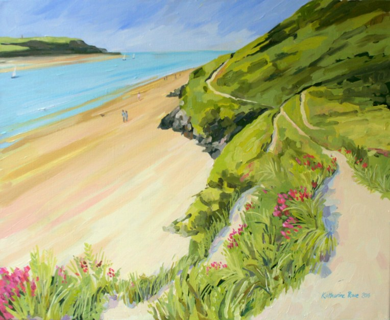 Approaching Brae Hill, 60x70cm unframed, sold