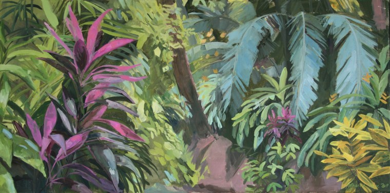 Costa Rican Jungle, 85x45cm framed, £800