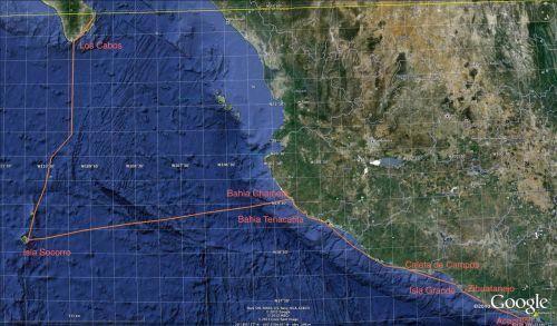 trasa Katharsis II z Cabo San Lucas do Acapulco