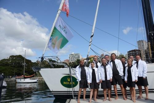 Załoga Katharsis II na regaty Rolex Sydney Hobart