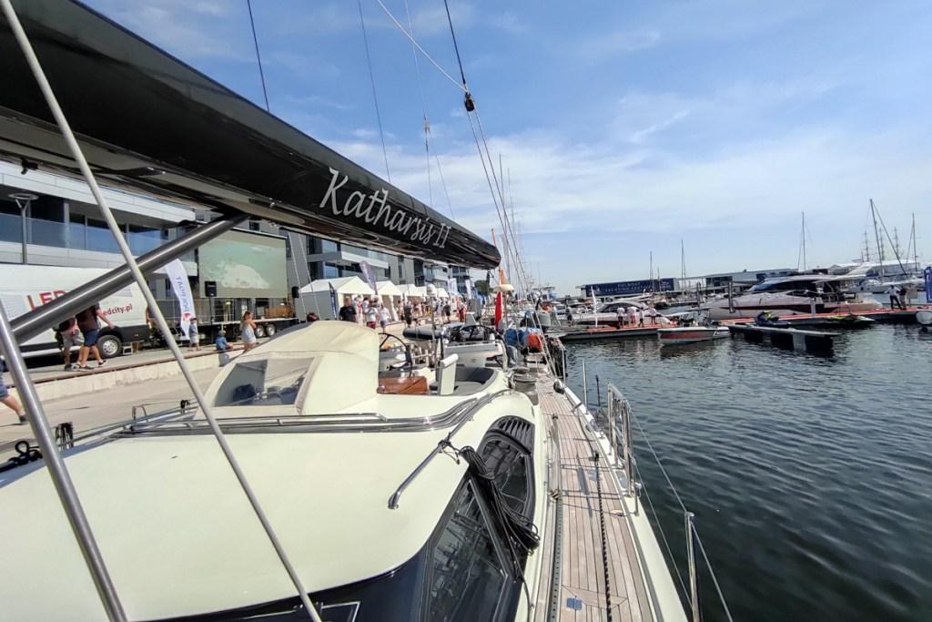Katharsis II w czasie targów POLBOAT w Marina Yacht Park 2020.08.21