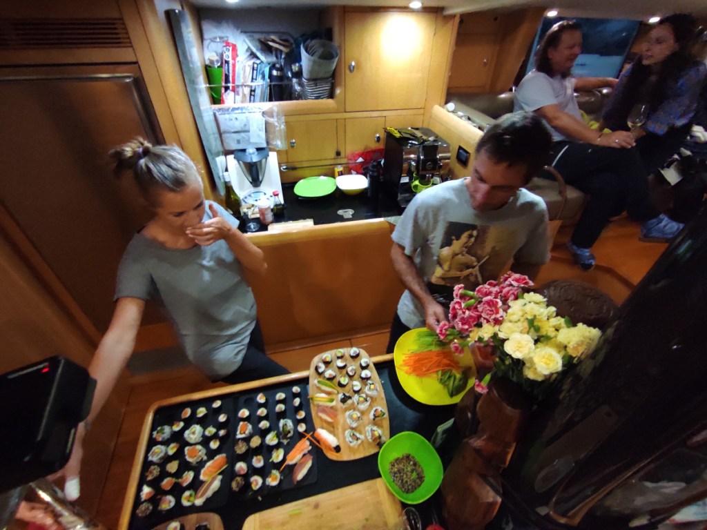 Wieczór z kręceniem sushi na Katharsis II fot. AŁ