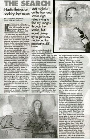 Article featuring Charleston Artist Kat Hastie