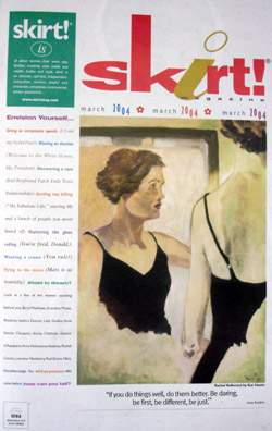 Charleston Artist Kat Hastie featured in Skirt Magazine