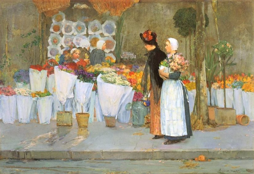 at the florist 1889